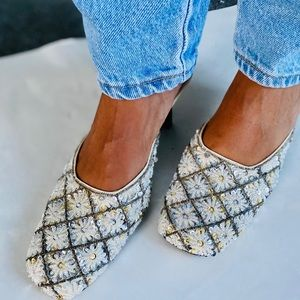 Vintage Sequined Slides 9